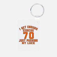 70 Birthday Designs Keychains