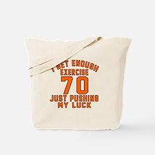 70 Birthday Designs Tote Bag