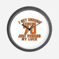 70 Birthday Designs Wall Clock
