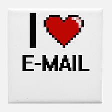 I love E-MAIL Tile Coaster
