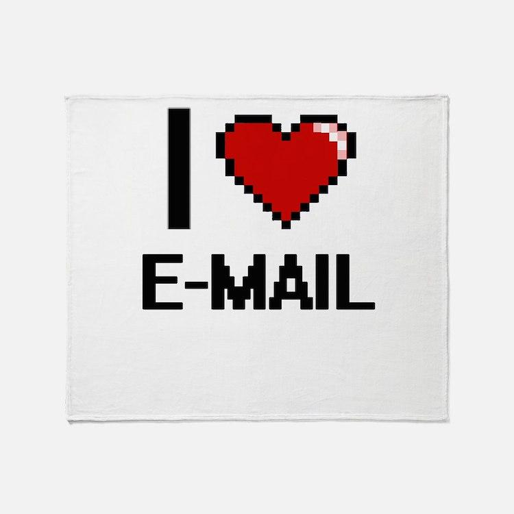 I love E-MAIL Throw Blanket