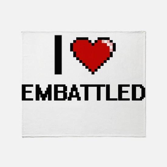 I love EMBATTLED Throw Blanket