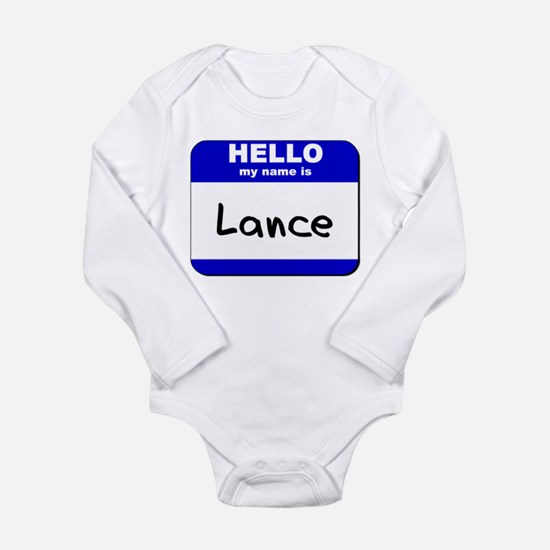 hello my name is lance Infant Bodysuit Body Suit