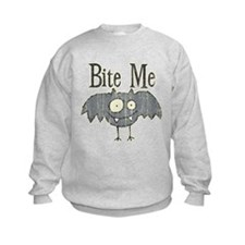 Bite Me Bat Design Sweatshirt