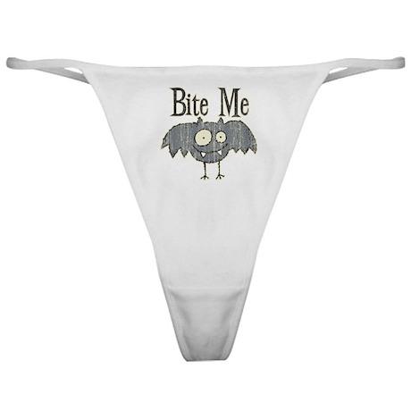 Bite Me Bat Design Classic Thong