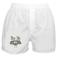 Bite Me Bat Design Boxer Shorts