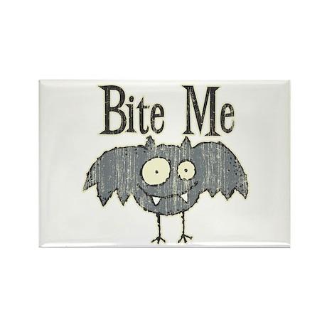 Bite Me Bat Design Rectangle Magnet
