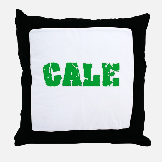Cale Name Weathered Green Design Throw Pillow