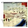 Vintage Japanese painting in Winter Shower Curtain