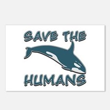 Save the Humans Postcards (Package of 8)