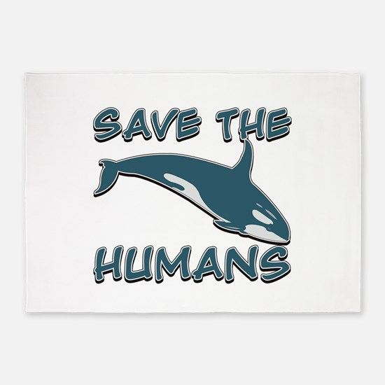 Save the Humans 5'x7'Area Rug