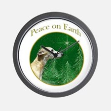 Whippet Peace Wall Clock