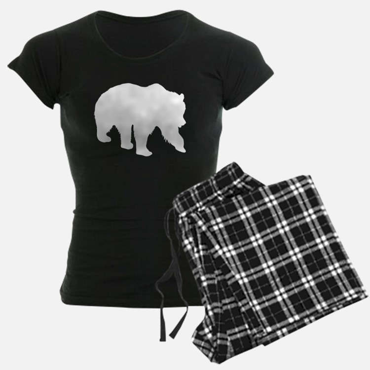 Grizzly Bear Silhouette Pajamas