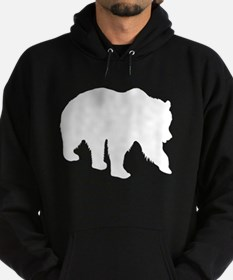 Grizzly Bear Silhouette Hoodie