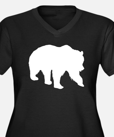 Grizzly Bear Silhouette Plus Size T-Shirt