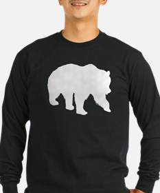 Grizzly Bear Silhouette Long Sleeve T-Shirt