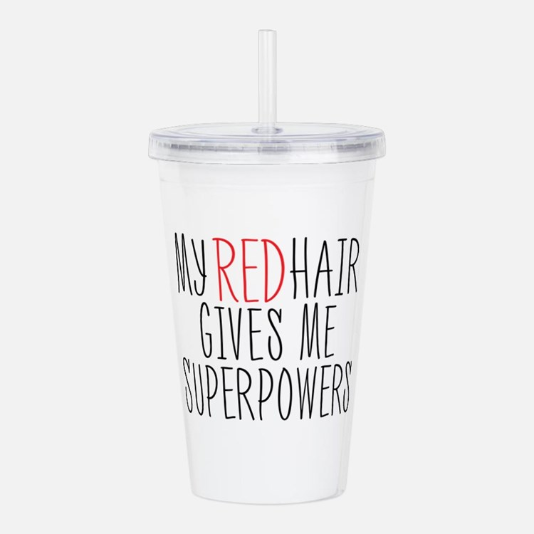 My Red Hair Gives Me SuperPowers Acrylic Double-wa