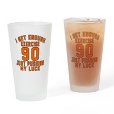 90 Birthday Designs Drinking Glass