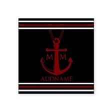 """Nautical Anchor and Rope Mo Square Sticker 3"""" x 3"""""""