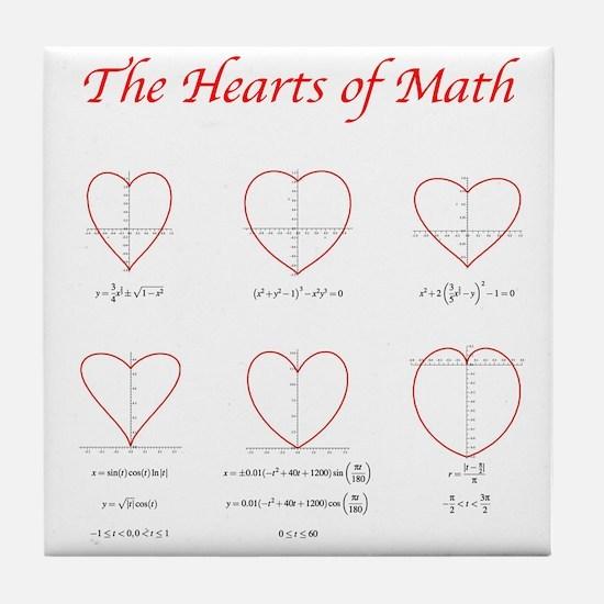 Heart Curves Tile Coaster