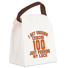100 Birthday Designs Canvas Lunch Bag