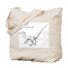 """Clever Girl"" raptor Tote Bag"