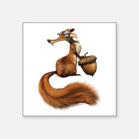 """Ice Age Squirrel Square Sticker 3"""" x 3"""""""