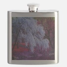 landscape purple cherry blossom Flask
