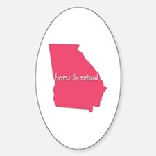 Funny Born raised south detroit Decal