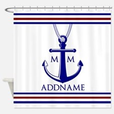 Nautical Monogram Shower Curtain