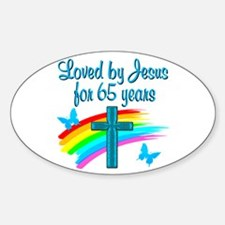 65TH BLESSING Sticker (Oval)