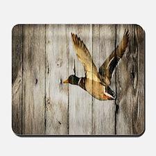 rustic western wood duck Mousepad