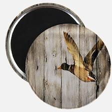 rustic western wood duck Magnet