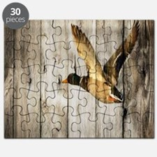 rustic western wood duck Puzzle