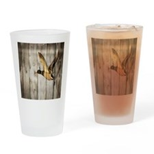 rustic western wood duck Drinking Glass