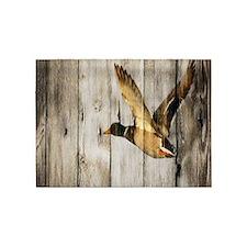 rustic western wood duck 5'x7'Area Rug