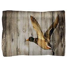 rustic western wood duck Pillow Sham