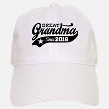 Great Grandma Since 2016 Baseball Baseball Cap