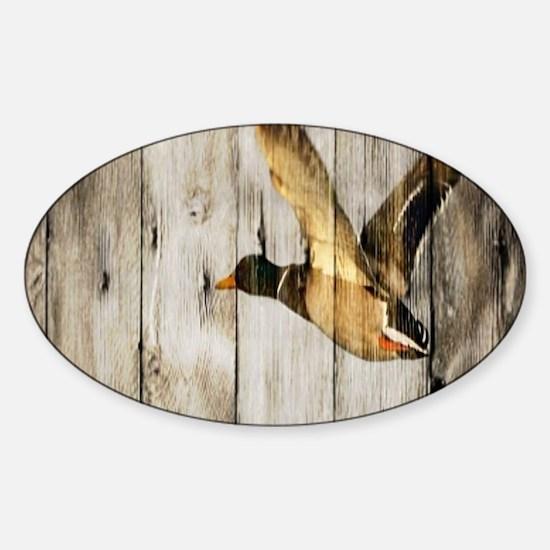 rustic western wood duck Decal