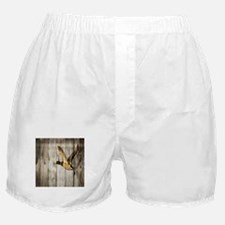 rustic western wood duck Boxer Shorts