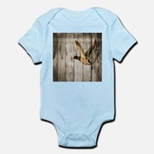 rustic western wood duck Body Suit