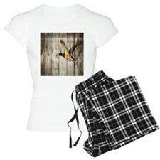 rustic western wood duck Pajamas
