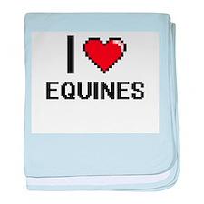 I love EQUINES baby blanket