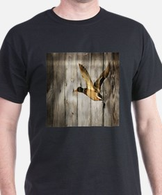 rustic western wood duck T-Shirt