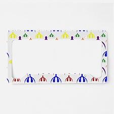 Rainbow Clits on White License Plate Holder