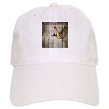rustic western wood duck Baseball Cap