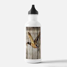 rustic western wood du Water Bottle