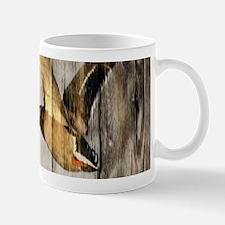 rustic western wood duck Mugs