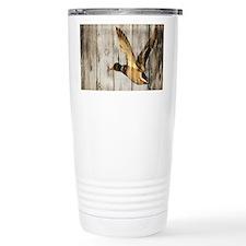 rustic western wood duc Travel Mug