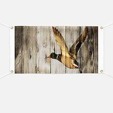 rustic western wood duck Banner
